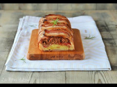 Pastel De Carne Picada Y Tortilla De Patata Envuelto En Beicon Youtube