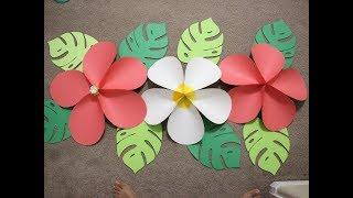 Giant Hawaiian Paper Flower ...Moana Birthday Party Wall
