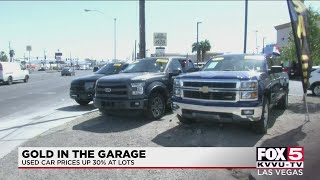 Used car prices up 30% at lots