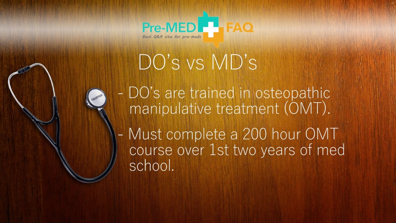 Why would anyone choose DO vs MD? | Choosing MD or DO | DO or MD