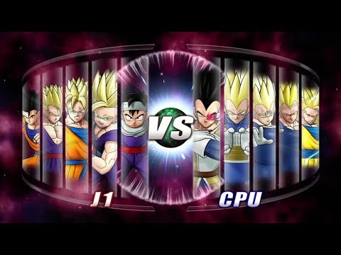 Dragon Ball: Raging Blast 2 All Gohan vs Vegeta & Goku