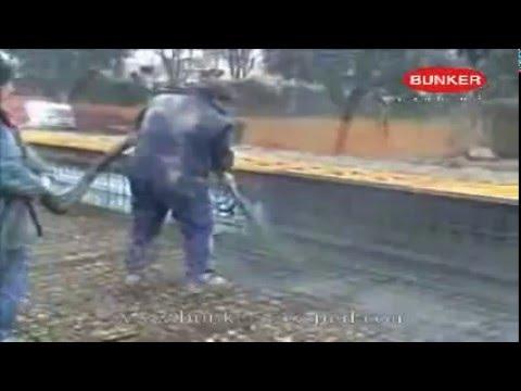 vr001  B100 Spruzzatura betoncino piscina  YouTube