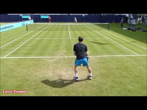 Andy Murray Training London 2018 - Court Level View