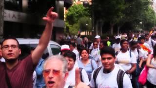 Marcha en las calles de Madrid  España oramos por ti