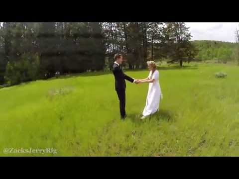 A Beautiful Aerial Wedding Photography Drone Shot