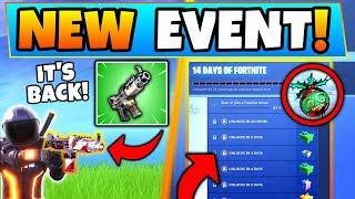 Fortnite Christmas Event: *NEW* CHALLENGES + Unvaulted Items! (14 Days of Fortnite in Battle Royale)