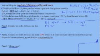 Reacciones químicas   estequiometria) cálculos con masas 01 ejercicios y problemas resueltos
