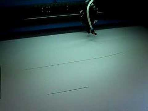 Laser cutting 6mm Depron foam