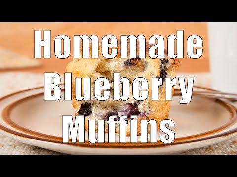Homemade Slightly Sweet Low Sodium Blueberry Muffins (Med Diet Episode 5)