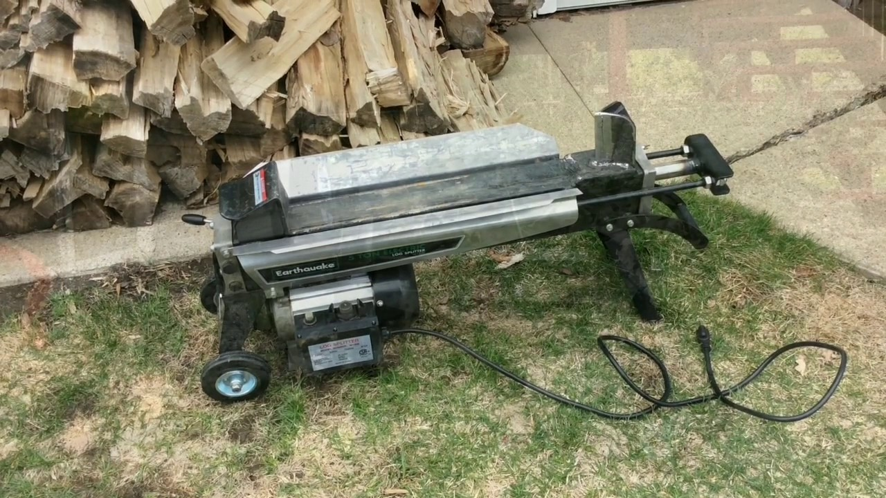 Assembly, ton electric log splitter w1200 | earthquake earthquate.