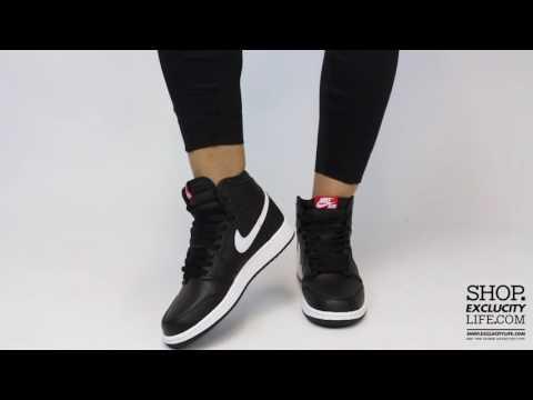 Women's Air Jordan 1 High Retro Black   White On Feet Video At Exclucity