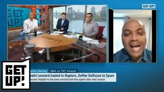 Barkley: Kawhi Leonard should stay in Toronto, Carmelo Anthony shouldn't start | Get Up! | ESPN