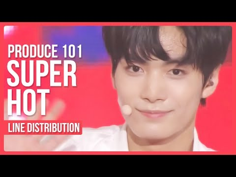 PRODUCE 101 - Super Hot Line Distribution (Color Coded)