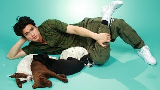 Charles Melton Plays With Puppies While Answering Fan Questions