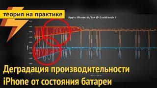 Замедление Айфонов при изношенной батарее (ARGUMENT600)