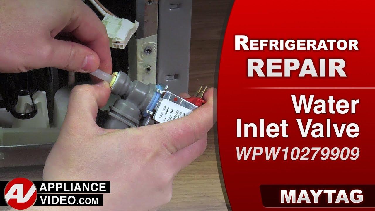 Maytag & Whirlpool Refrigerator – Leaking Water – Water Inlet Valve  Diagnostic & Repair