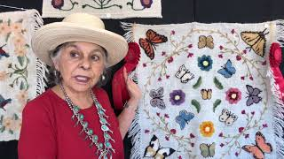 Santa Fe Spanish Market - Artist Interview - Julia R. Gomez | Colcha Embroidery