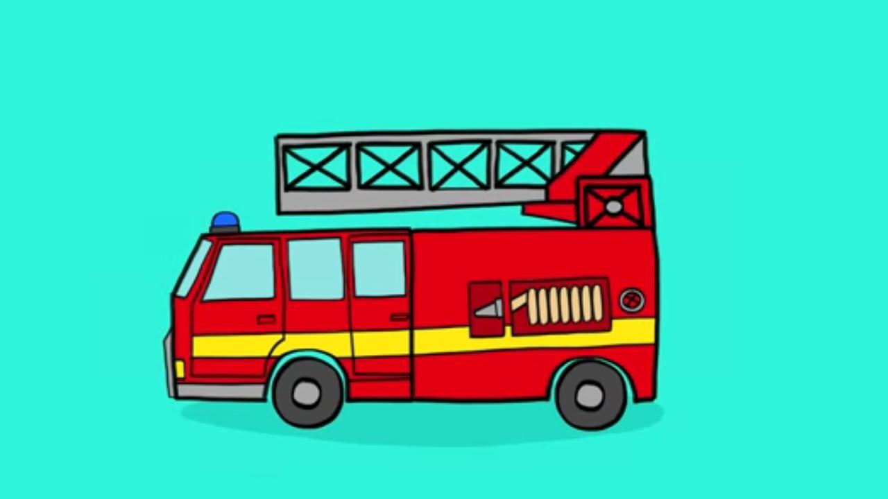 Apprendre à Dessiner Un Camion Pour Les Pompiers En 3 étapes