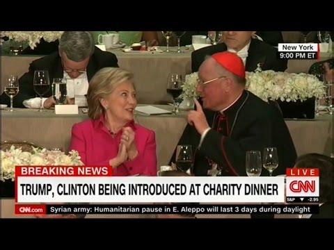 Full Event: Donald Trump's and Hillary Clinton's speeches at Al Smith Dinner, NY, 10/20/2016