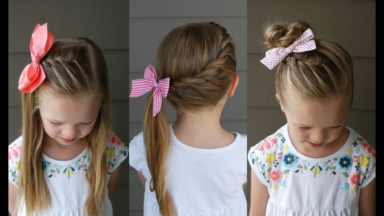 3 five minute back to school hairstyles q s hairdos youtube