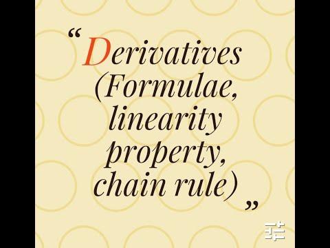 Lecture 4- part 1 - Derivatives