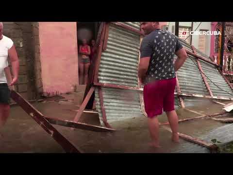 Caibarién tras el paso del huracán Irma