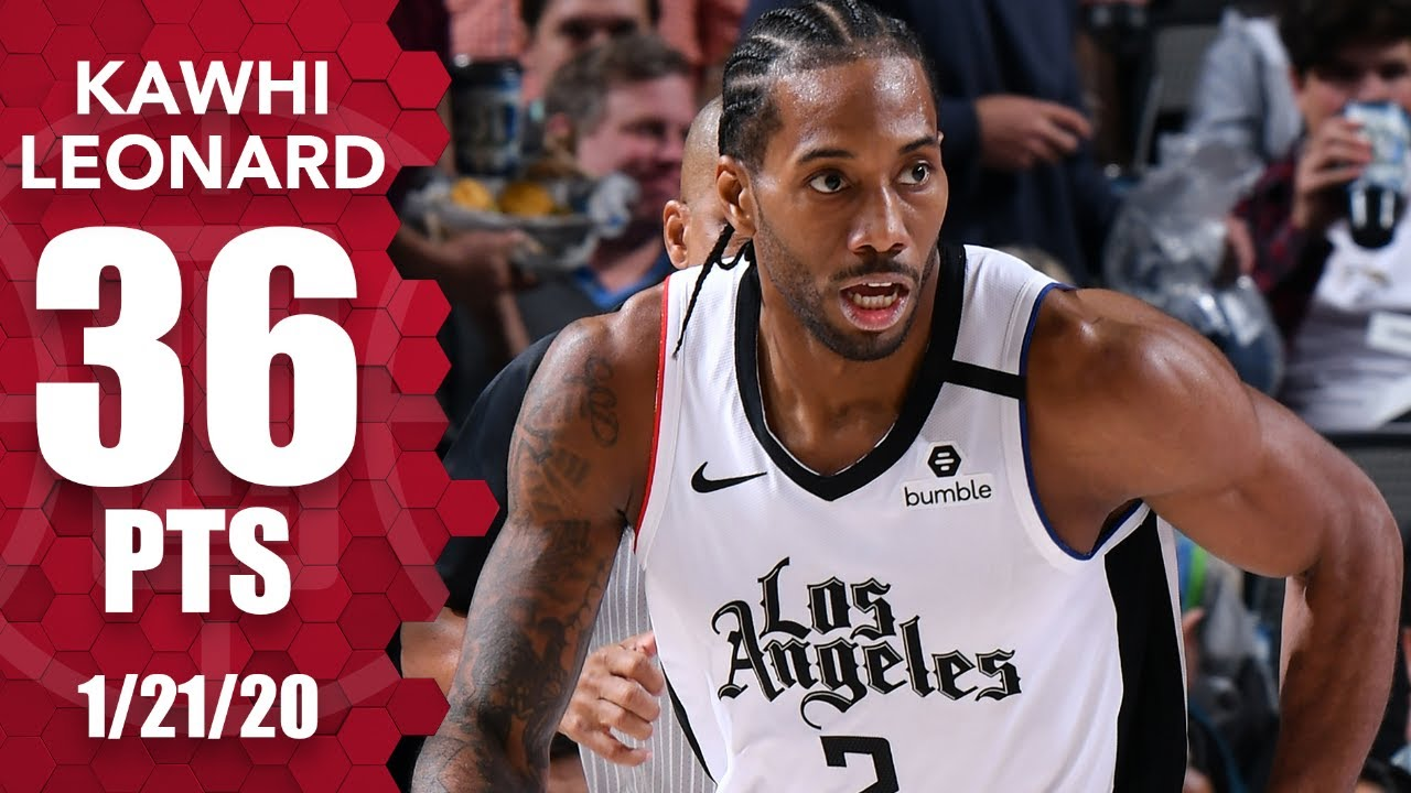 Kawhi Leonard Comes Up Clutch In 36 Point Performance For Clippers Vs Mavs 2019 20 Nba Highlights