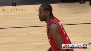 Kawhi Leonard First Basket For Toronto Raptors&Shocks The Entire Crowd!