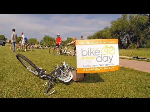 Bike to Work Day in Fort Collins Colorado