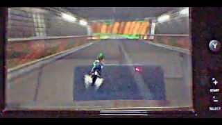 マリオサーキットの映像。使用キャラルイージ、3周目のラストの所でち...