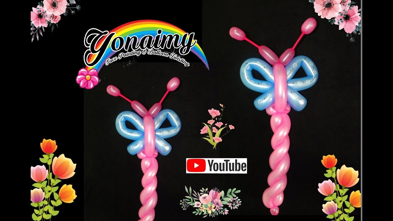 Mariposa linda y facil cute and easy butterfly balloon - Decoracion con mariposas ...