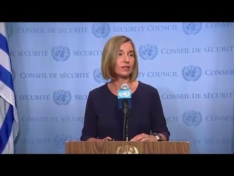 Federica Mogherini (EU) on cooperation between the UN & the EU  - Media Stakeout
