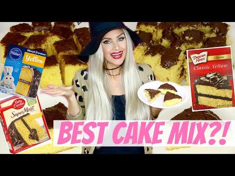 Best Box Yellow Cake Mix Comparison: Pillsbury Vs. Duncan Hines Vs. Betty Crocker // Lindsay Ann