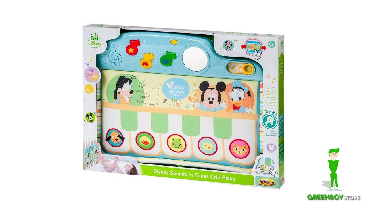 Disney Sound And Tunes Crib Piano Micky And Friends 0 Months Light
