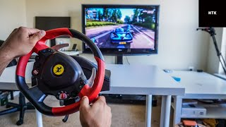 how to Setup Thrustmaster Ferrari 458 Spider Racing Wheel for Xbox One X S  Gameplay