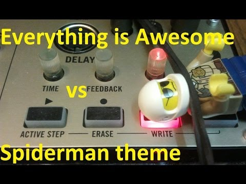The LEGO Movie 'Everything is Awesome' vs Spiderman Theme - Volca Keys + Monotribe COVER!