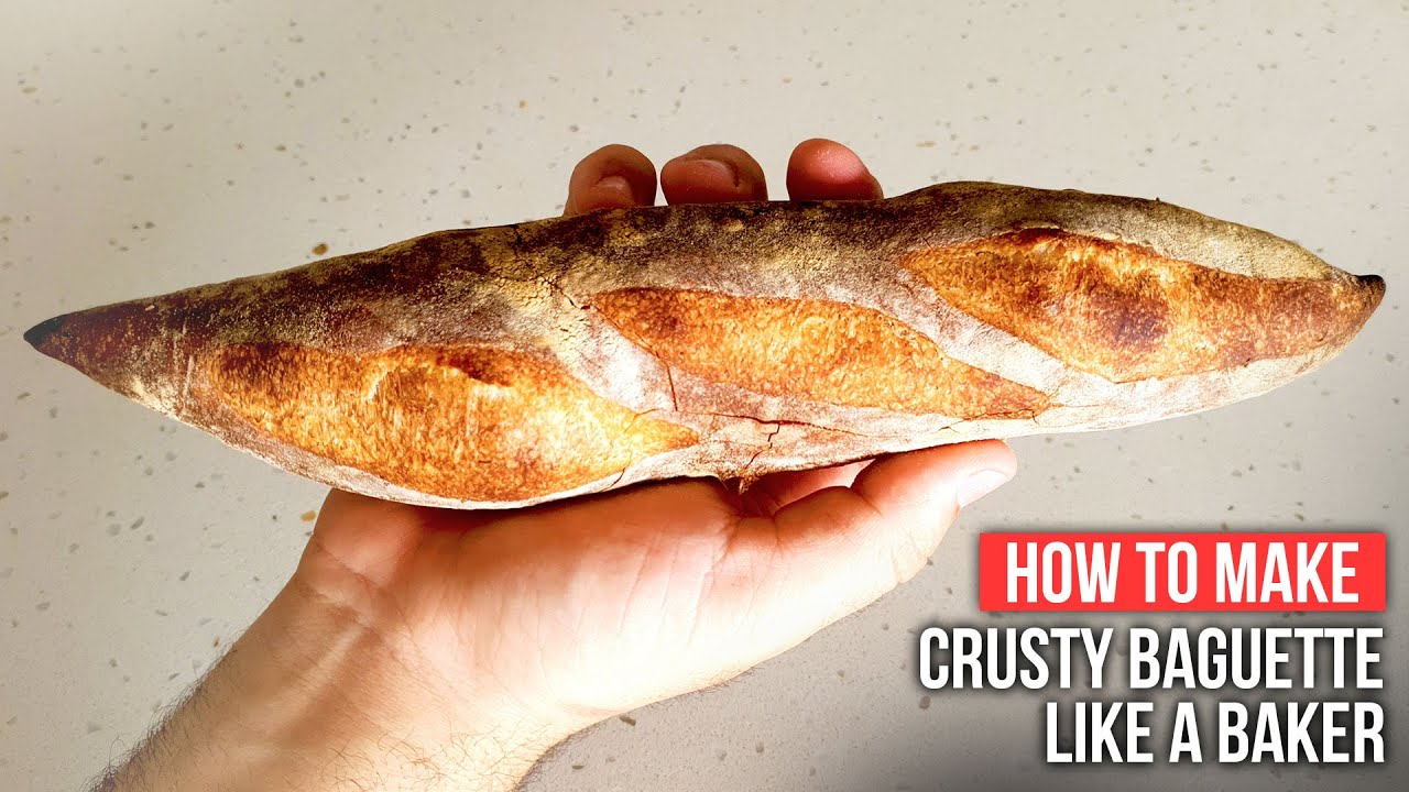 How to Make CRUSTY FRENCH BAGUETTE like a Baker