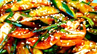 오이무침 만들기 : korean  kimchi 오이무침…