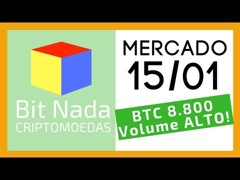 Mercado de Cripto! 15/01 Bitcoin atinge 8.800 USD / Médias de 200 em 9k! / Venezuela recorde P2P