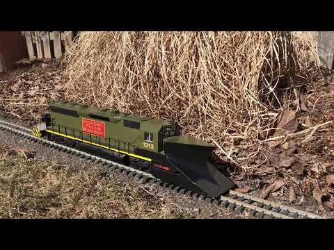 HUGE! Custom Snow plow and Track Cleaning Locomotive