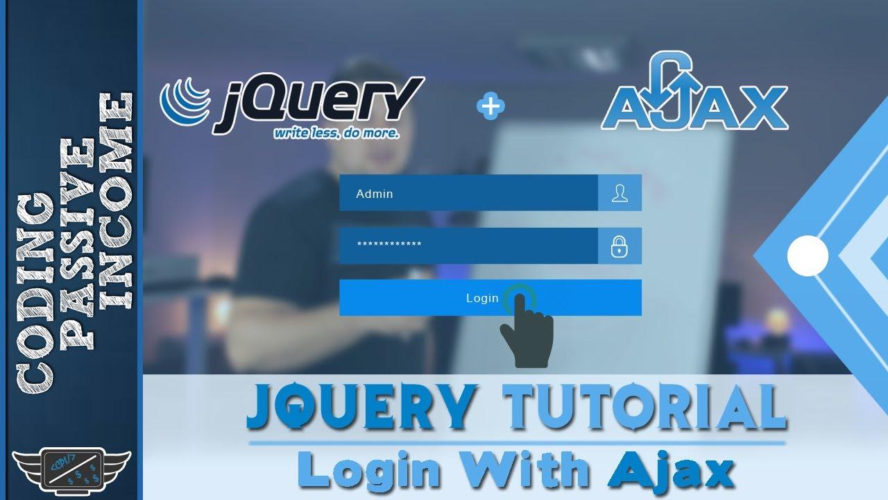 Jquery tutorial create login form with ajax php mysql youtube jquery tutorial create login form with ajax php mysql baditri Choice Image