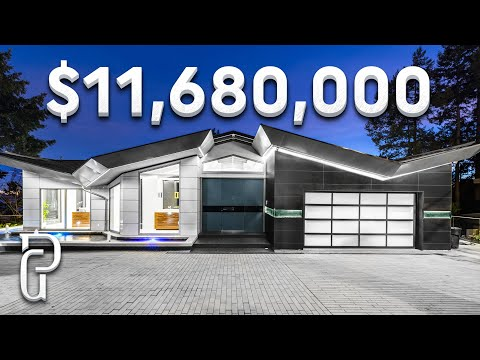 Inside A $11,680,000 Modern Waterfront House In West Vancouver | Propertygrams Mansion Tour
