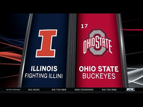 Illinois at Ohio State - Men's Basketball Highlights