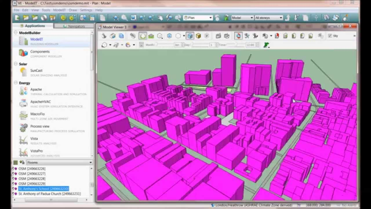 How to access Open Street Map (OSM) from ModelIT