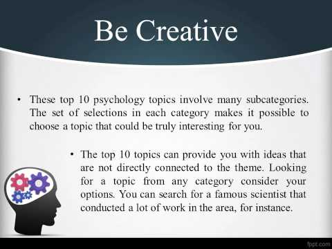 Top 10 Psychology Research Paper Topics