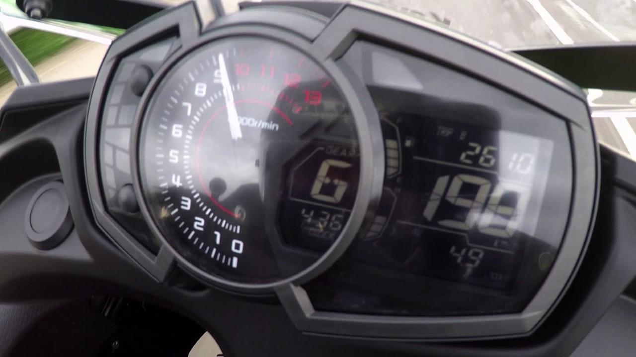 2017 Kawasaki Ninja 650 Speed Max 200 Kmh Youtube