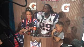 Patriots RB LeGarrette Blount would've voted for James White as Super Bowl MVP Video