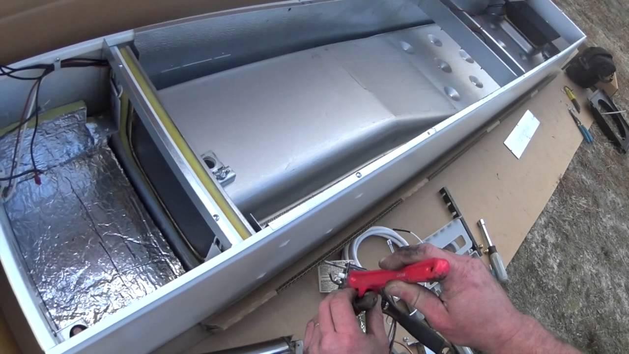 HVAC Installation: Williams Propane Wall Furnace - YouTube