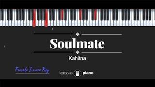 Soulmate (FEMALE LOWER KEY) Kahitna (KARAOKE PIANO)
