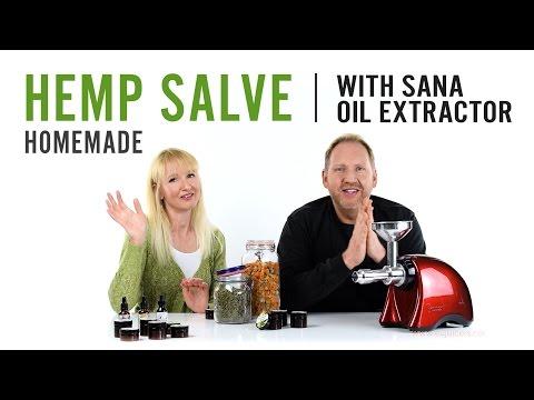 Homemade Hemp Salve | with Sana Oil Extractor EUJ-702